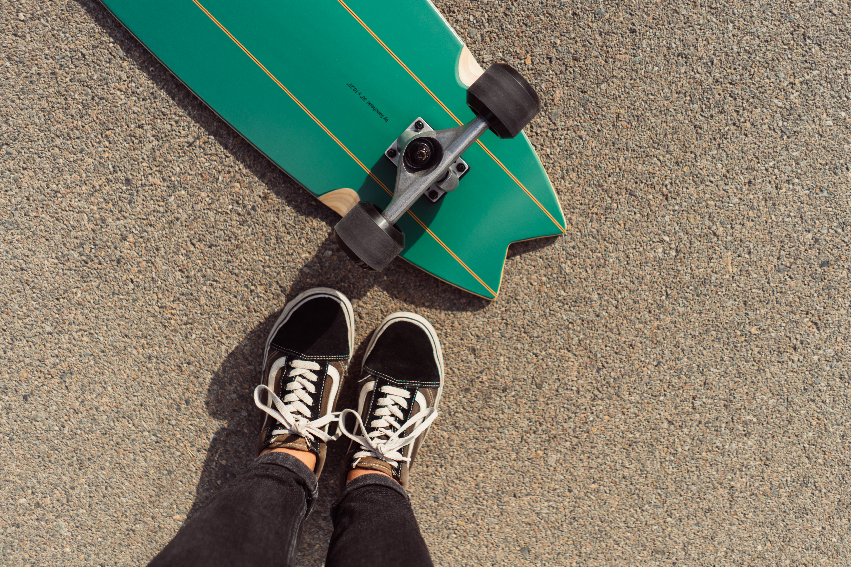 Slide surfskate Swallow Grom and vans old school